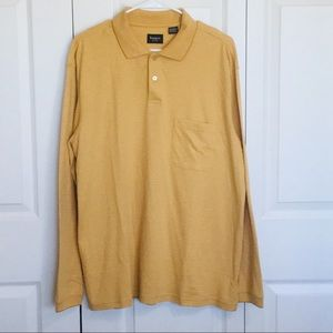 Haggar long sleeve men's polo Size Large